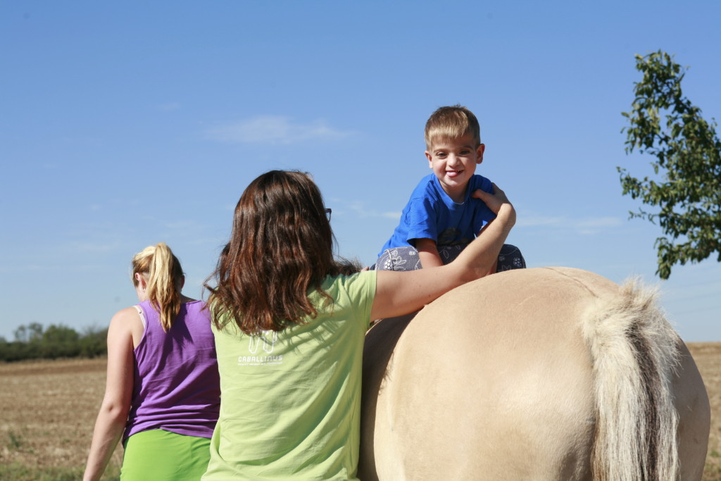 Hippotherapy with babies (2)